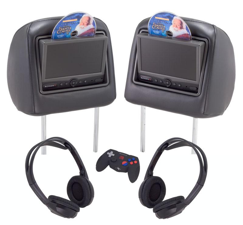Factory-look Headrest Entertainment Systems Rosen Electronics