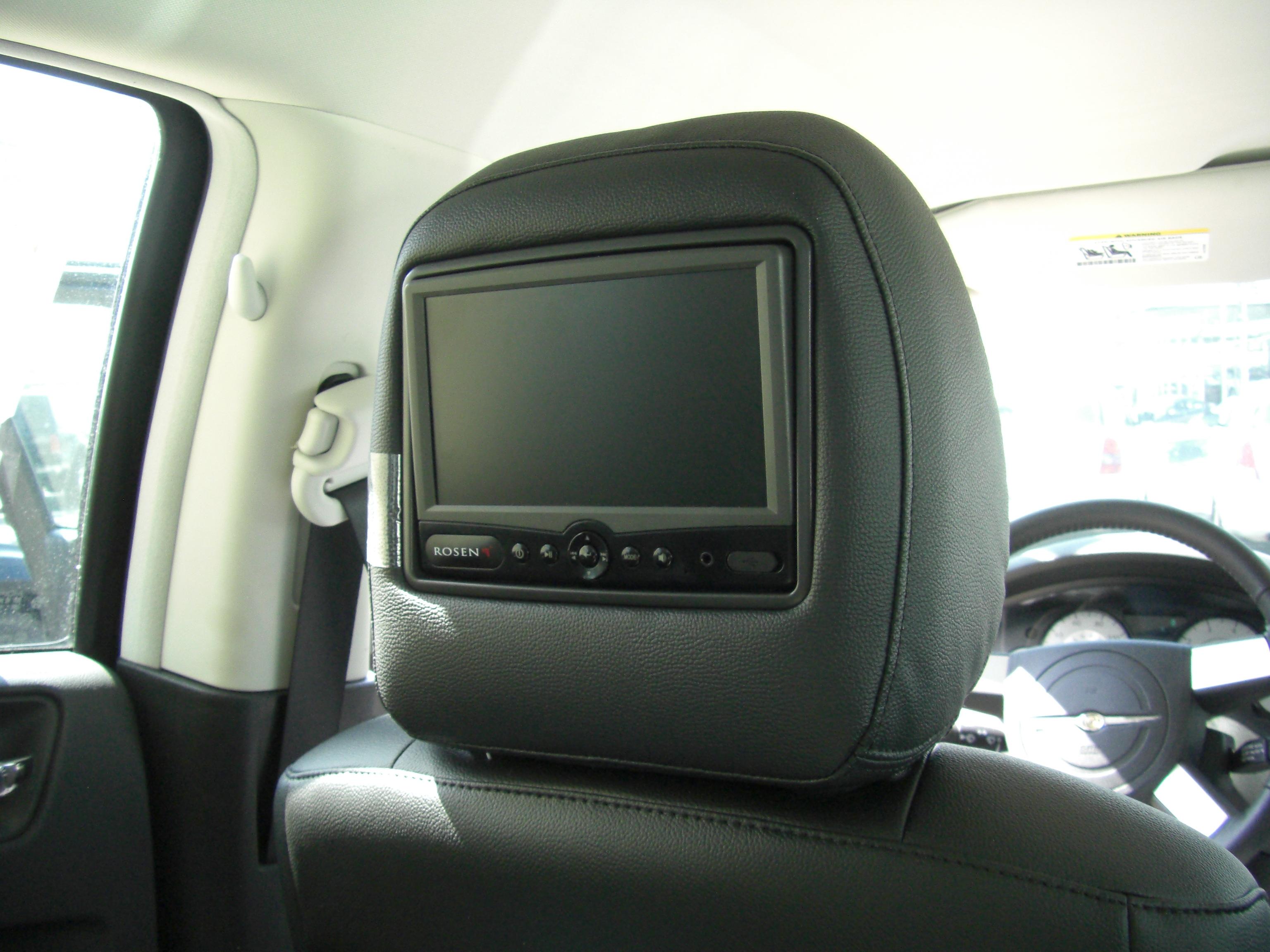 chrysler rear seat entertainment rosen av7500 dvd headrest. Black Bedroom Furniture Sets. Home Design Ideas