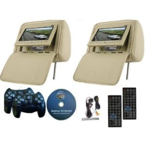 Universal Twin DVD Car Headrest Entertainment